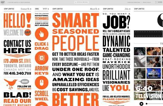 infographic driven web design