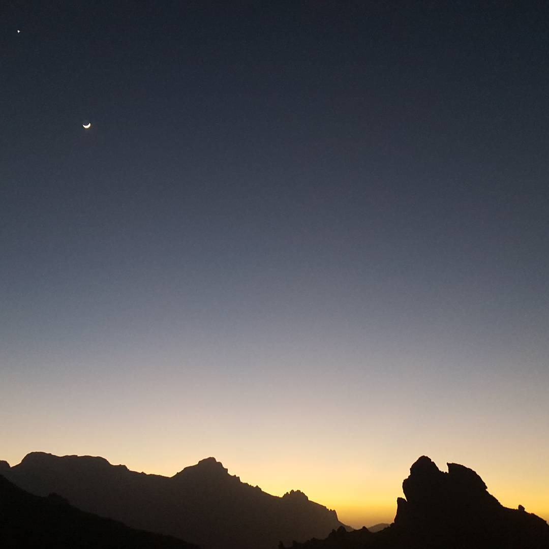 On a long private tour in Tenerife - night coming in the heart of the island.
