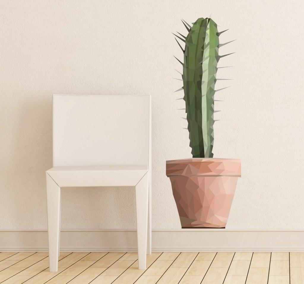vinilos de flores cactus