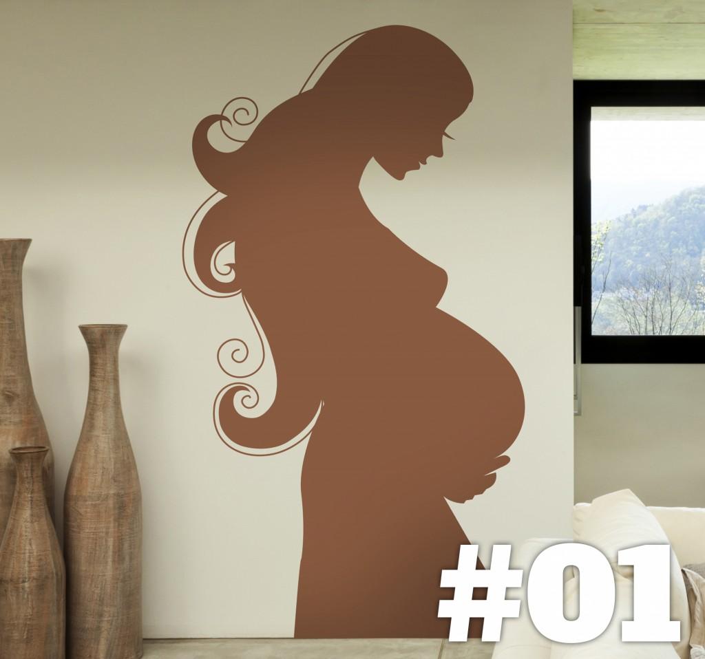 vinilos decorativos para mama embarazo