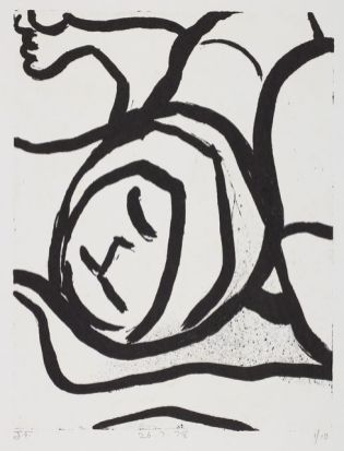 John Foster. Untitled – from the 'Forceps Delivery' series. 1978. Lithograph on paper. Purchased 2015. Te Papa (2015-0026-7).