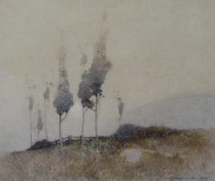 John William Tristram, Early Morning, 1918. Watercolour. Private collection.
