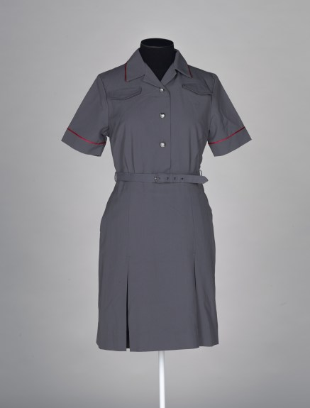 Postal uniform dress, 1960s–1980s, by Steyn & Dove Clothing Co. The New Zealand Post and Telegraph Department. Te Papa (GH018189)