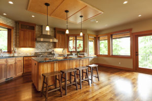 luxury kitchen in a johnston county parade of homes