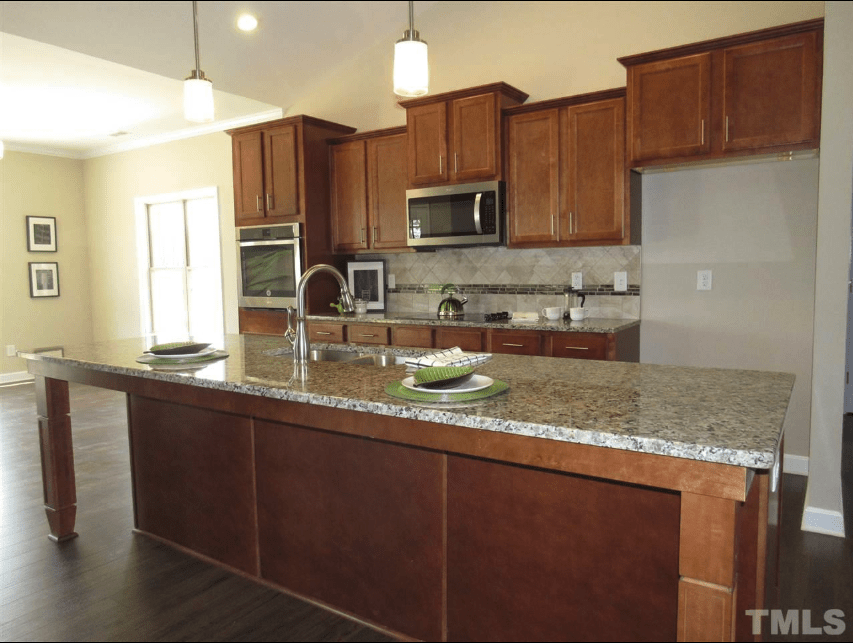 stunning kitchen in featured home for sale in belmont farms