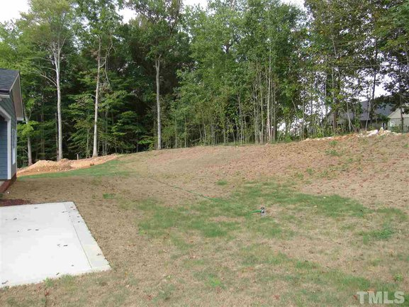 private wooded backyard at 46 oak hollow court in clayton.