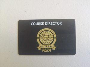 PADIコースディレクターのCカードです!