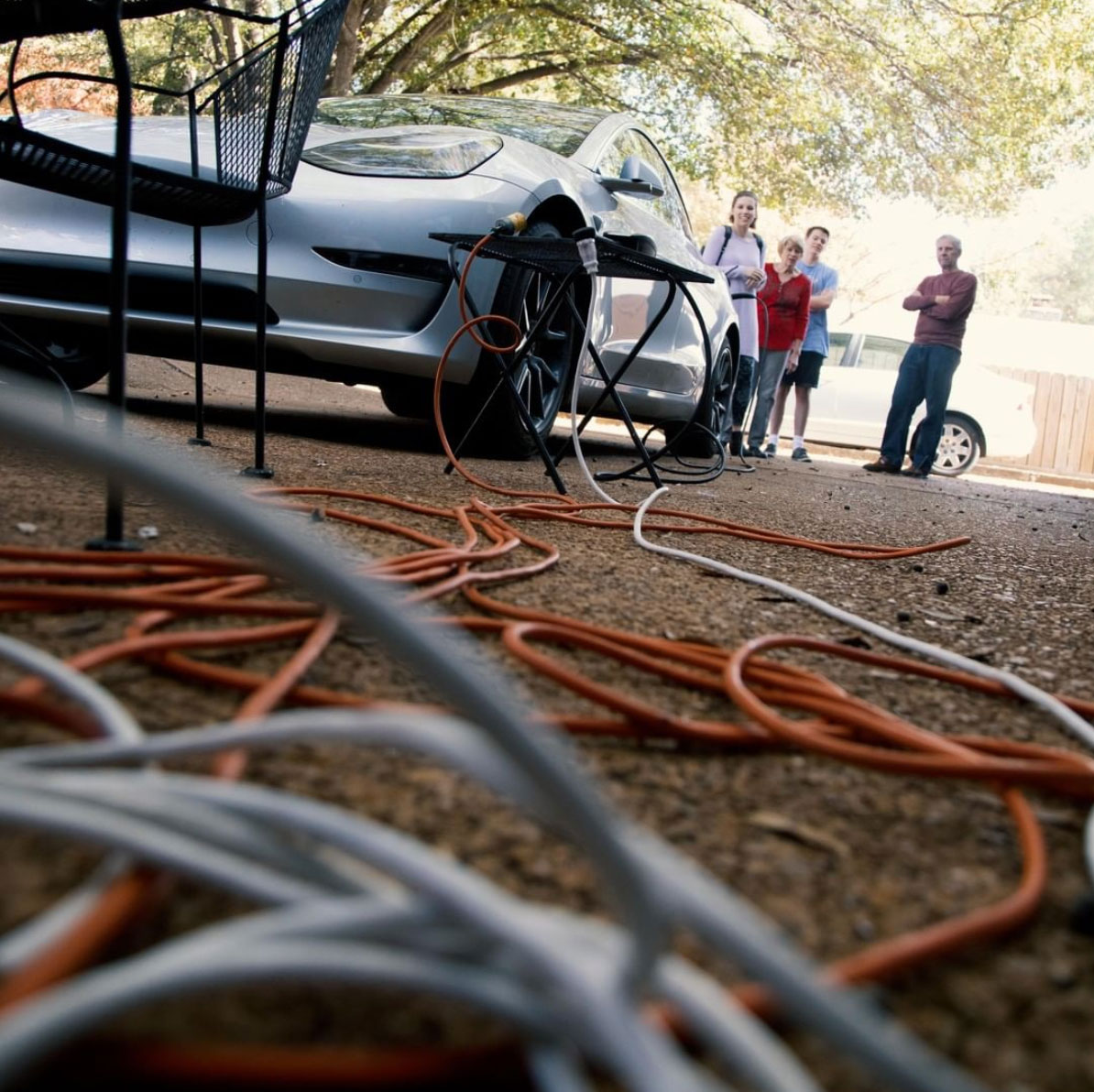 Charging your Tesla with extension cords