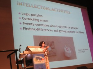 """IATEFL President Marjorie Rosenberg giving her plenary on """"Making Lessons Memorable"""""""