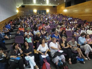 "The audience at Andy Curtis's workshop on ""Energizing Language Learning Using Film"""