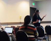 Deborah Healey presenting