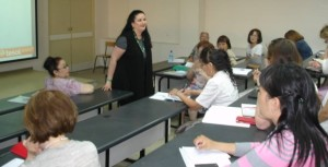 Luciana leading a workshop with Yakut TESOL 2014 conference participants.