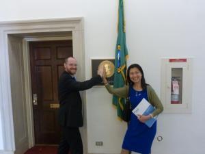 Yilin Sun and Adam Sweeney on Capitol Hill