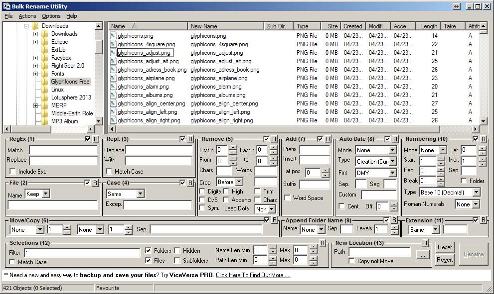 Useful utility to rename files in bulk – TexasSwede
