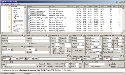 This is teh somewhat messy but very powerful user interface...
