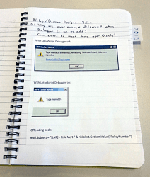 Notebook with questions for the IBM developers