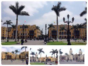 1991年世界遺産に登録された「リマ歴史地区」の中心に位置するのが、このアルマス広場です。 アルマス広場は、ペルーのあちらこちらの都市にあります。アルマス(Armas)とは、スペイン語で「武器」と言う意味で、武器を調達したり、避難所として広場が使われたことに由来があるようです。