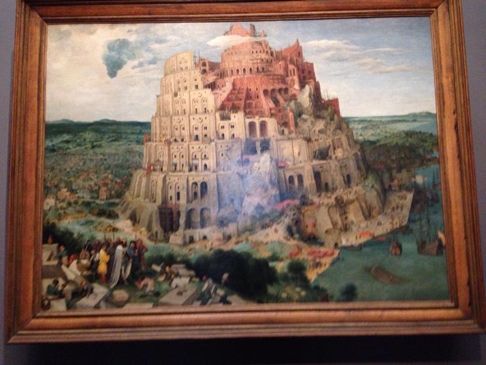 ブリューゲル バベルの塔。