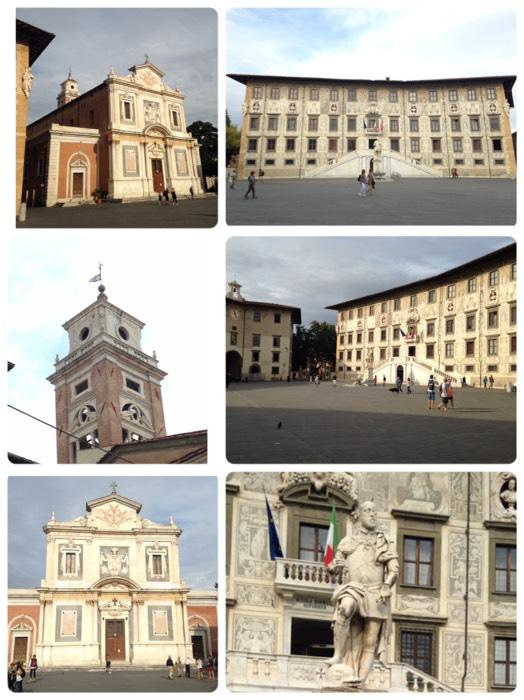 ピサの騎士教会とカロヴァーナ宮。