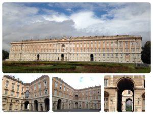 18世紀後半、ナポリ王国(ブルボン朝)の王によって建設されました。18世紀にヨーロッパで建てられた中で最も巨大な宮殿と言われています。 ヴァンヴィテッリの水道橋とサン・レウチョの邸宅群と共に世界遺産となっています。