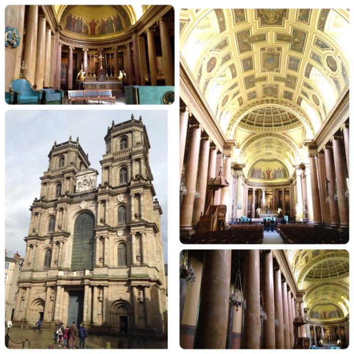 サンピエール大聖堂とも言います。 6世紀頃から司教区の本部として使用されました。12世紀にゴシック建築の教会に建て替えらましたが、15世紀に塔やファサードの西側が崩壊。その後、16世紀から17世紀にかけて再構築され、現在の新古典主義建築のファサードとなりました。 ※ファサード:建物の正面部分を言います。