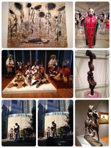 設立当初はアジア美術をコレクションの中心としていましたが、現在は140にも及ぶ地域の芸術文化を網羅する美術館となっています。収蔵品は2万4千件を超えるそうです。 左下2枚は美術館の外観です。 比べるとわかりますが、なんと影が動いています。