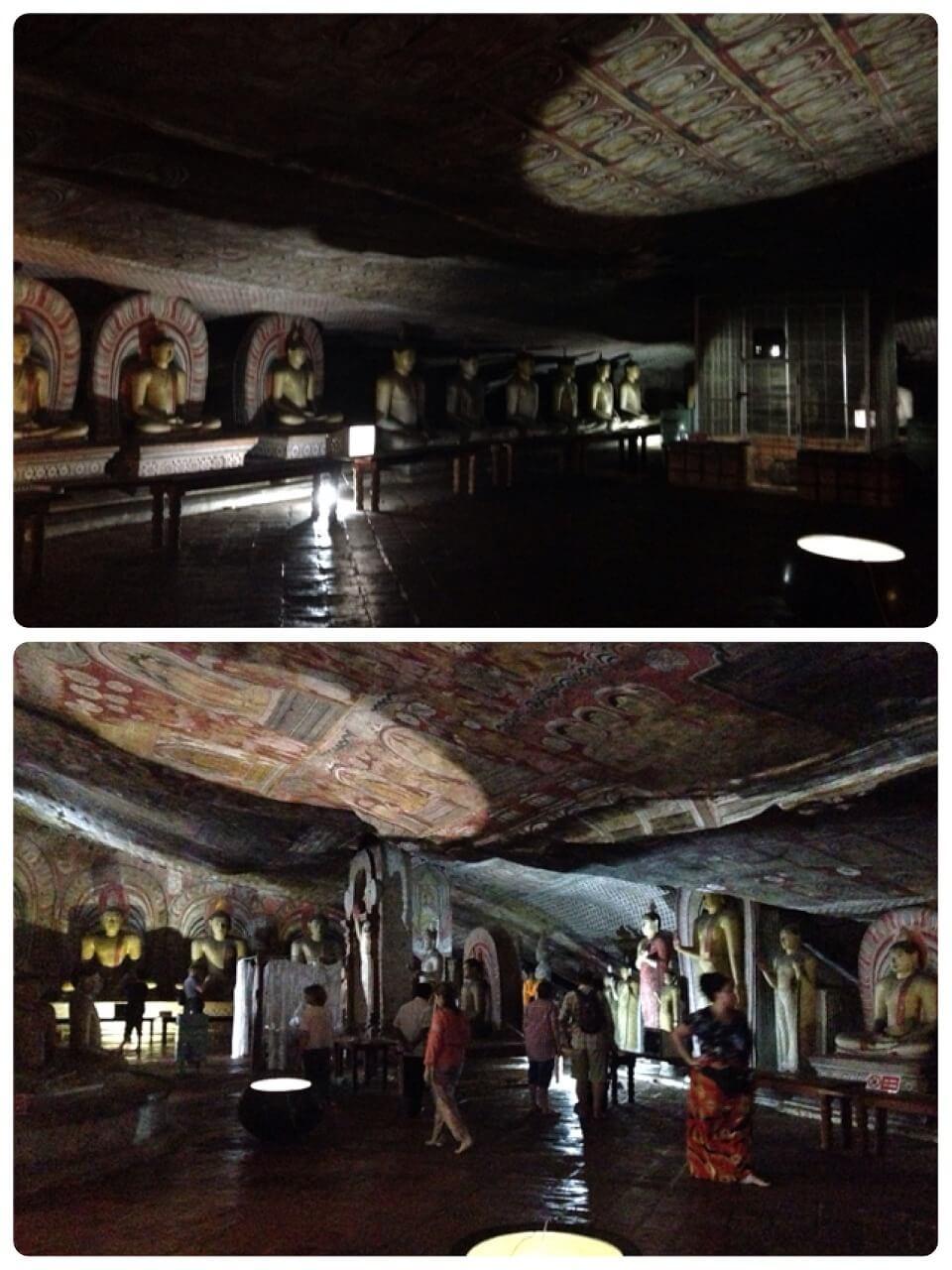世界遺産、ダンブッラ黄金寺院。