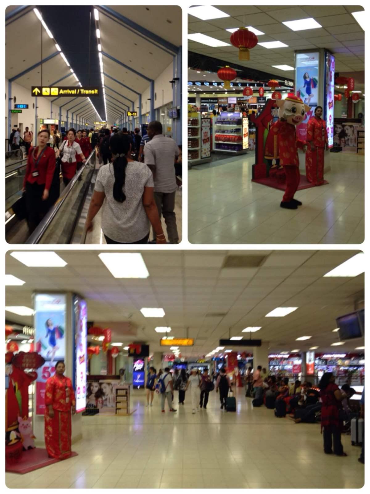 コロンボ空港到着