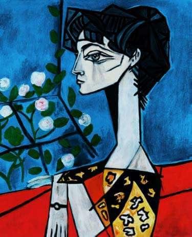 花とジャクリーヌ パブロ・ピカソ