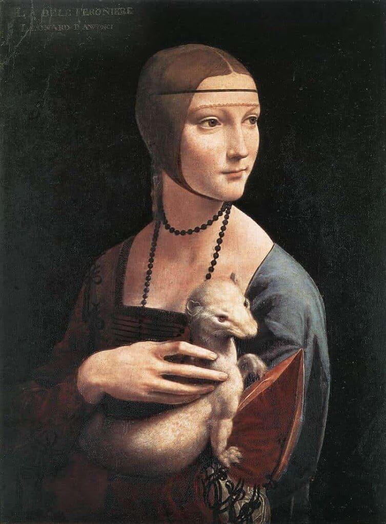 白貂(しろてん)を抱く貴婦人 レオナルド・ダ・ヴィンチ