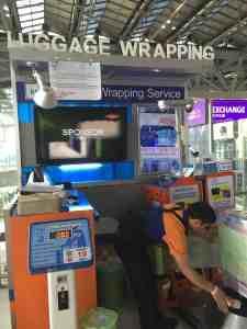 スワナプーム空港のパッキングサービス