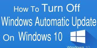 Turn off Windows Update