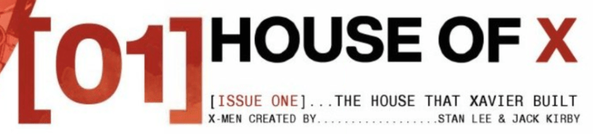 House of X Title