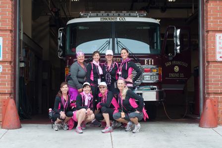 fire truck 2013 San Francisco Bay Area Susan G. Komen 3-Day breast cancer walk