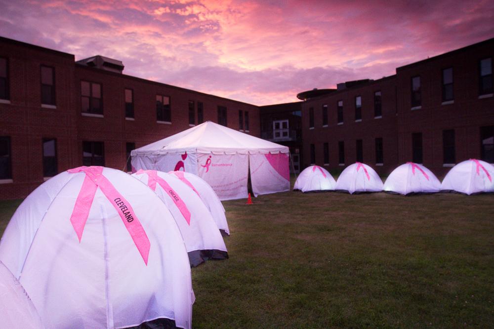 pink remembrance tent 2013 Boston Susan G. Komen 3-Day Breast Cancer Walk