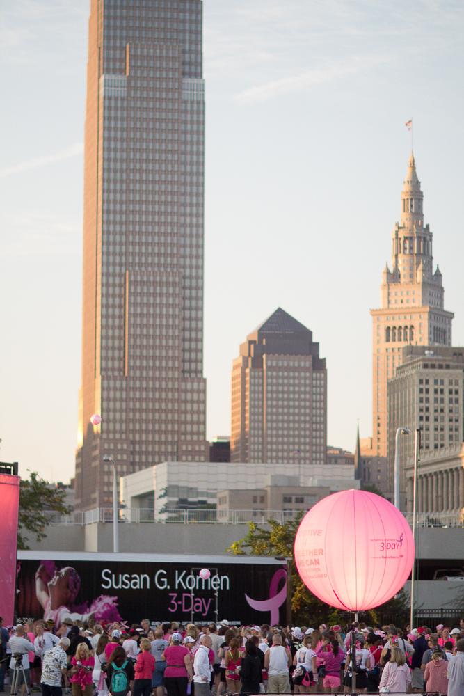 skyline 2013 Cleveland Susan G. Komen 3-Day breast cancer walk