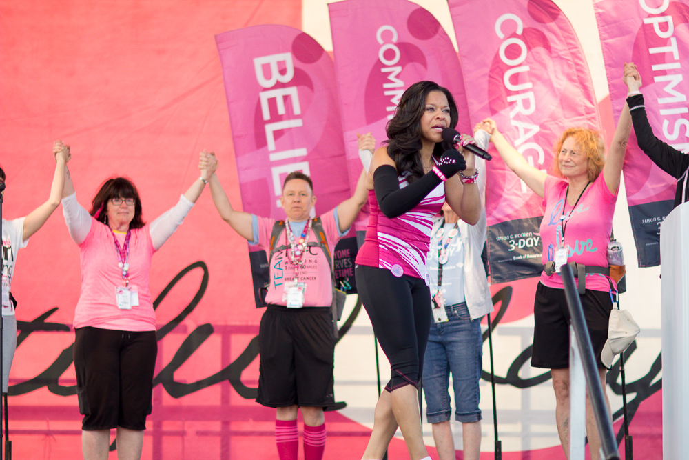 opening ceremony flags sheri 2013 Cleveland Susan G. Komen 3-Day breast cancer walk