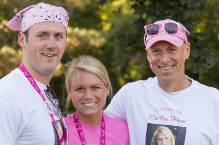 The Shinar family stops at Pit Stop 1 on Day 1 of the Twin Cities 3-Day fight to end breast cancer