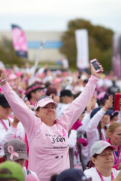 survivor closing 2013 Dallas Fort Worth Susan G. Komen 3-Day breast cancer walk