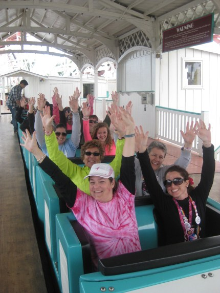 coaster hands up