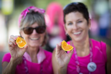 Susan G. Komen walkers gear up and take on Day 2 for breast cancer awareness.