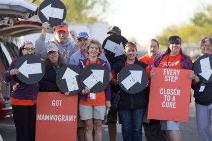 susan g. komen 3-Day breast cancer walk crew route marking volunteer
