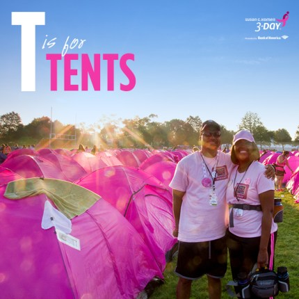susan g komen 3-Day breast cancer walk abcs of the 3-Day T Tents