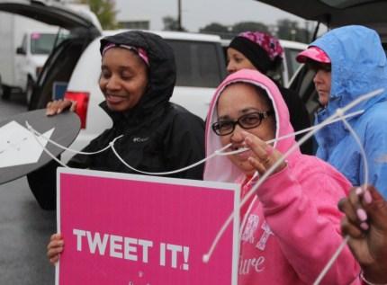 susan g. komen 3-Day breast cancer walk blog crew zip ties