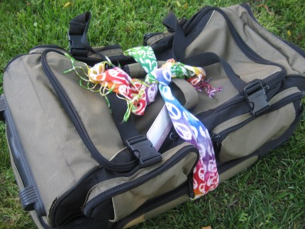 susan g. komen 3-day breast cancer walk blog camping hacks scarf on bag
