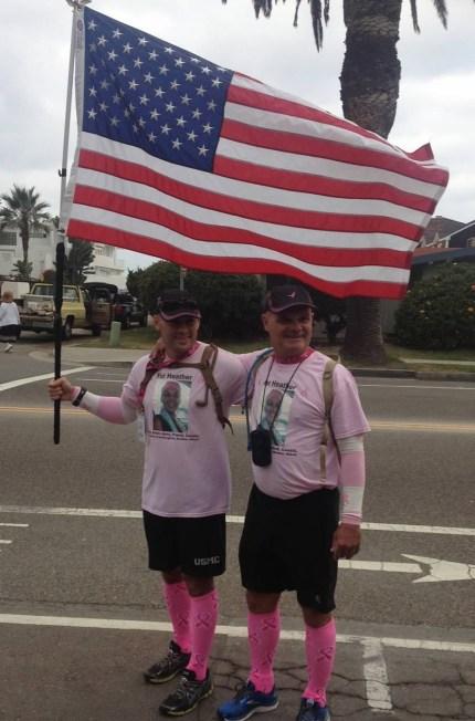 susan g. komen 3-day breast cancer walk san diego american flag marines