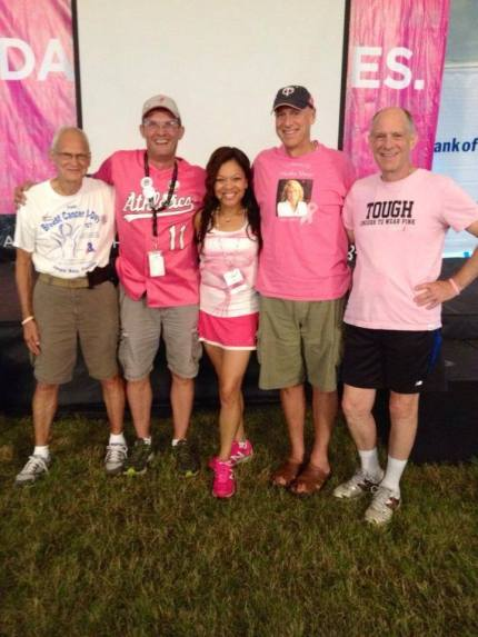 Photo of Dr. Sheri with several long-time 3-Day Walkers
