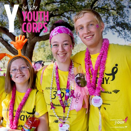 susan g. komen 3-day breast cancer walk crew volunteer youth corps