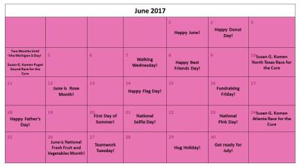 June Fundraising Calendar