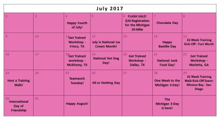 July Fundraising Calendar II